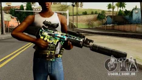 Grafiti M4 para GTA San Andreas terceira tela