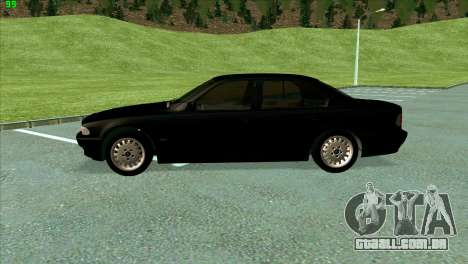 BMW 730i para GTA San Andreas vista interior