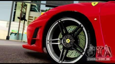 Ferrari F430 Scuderia para GTA San Andreas vista superior