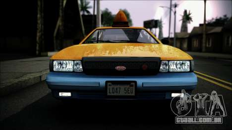 Taxi Vapid Stanier II from GTA 4 IVF para GTA San Andreas vista direita