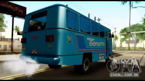 Chevrolet Bus para GTA San Andreas traseira esquerda vista