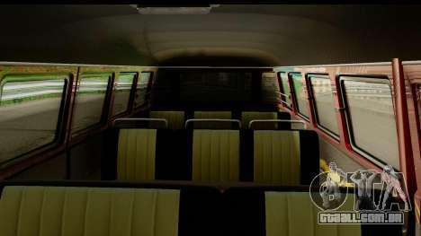 Volkswagen Transporter T1 Stance para GTA San Andreas vista traseira