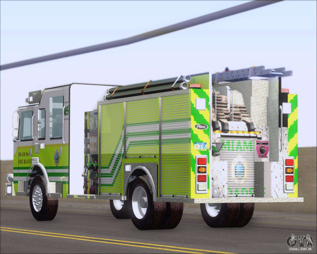 Pierce Arrow Xt Miami Dade Fd Engine 45 Para Gta San Andreas