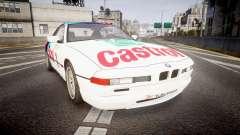 BMW E31 850CSi 1995 [EPM] Castrol White para GTA 4