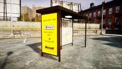 Publicidade Windows 95 em paradas de ônibus