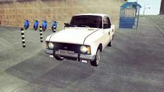 Moskvich 412 Branco Engolir