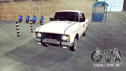 Moskvich 412 Branco Engolir para GTA San Andreas