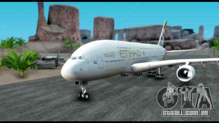 Airbus A380-800 Etihad New Livery para GTA San Andreas