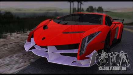 Lamborghini Veneno White-Black 2015 (HQLM) para GTA San Andreas