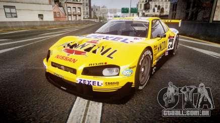 Nissan Skyline R34 2003 JGTC Pennzoil para GTA 4