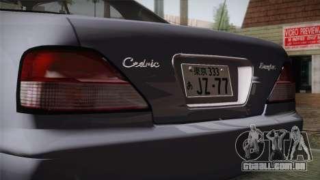 Nissan Cedric para GTA San Andreas vista traseira