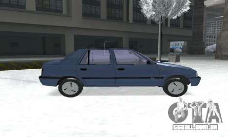Dacia Super Nova para GTA San Andreas traseira esquerda vista
