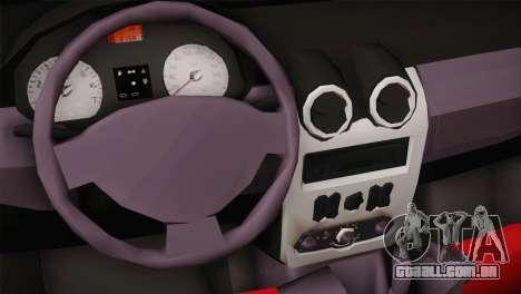 Dacia Logan Most Wanted Edition v1 para GTA San Andreas vista traseira