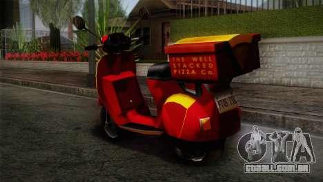Original Pizzaboy IVF para GTA San Andreas esquerda vista
