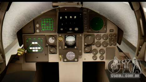 F-15DJ Mitsubishi Heavy Industries para GTA San Andreas vista traseira