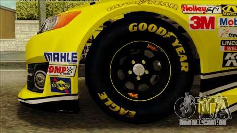 NASCAR Toyota Camry 2013 para GTA San Andreas traseira esquerda vista