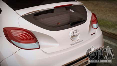 Hyundai Veloster 2012 Autovista para GTA San Andreas vista direita