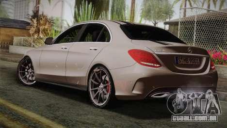 Mercedes-Benz C250 AMG Edition 2014 EU Plate para GTA San Andreas esquerda vista
