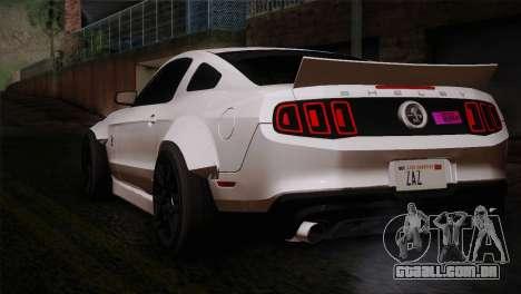 Ford Shelby GT500 RocketBunny SVT Wheels para GTA San Andreas esquerda vista