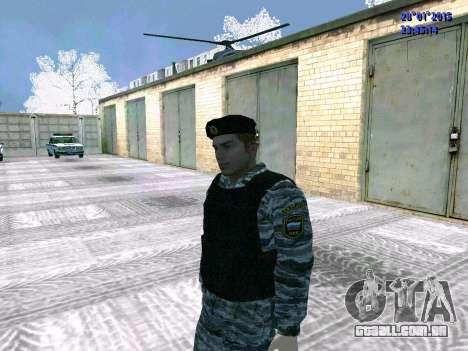 O lutador OMON para GTA San Andreas terceira tela