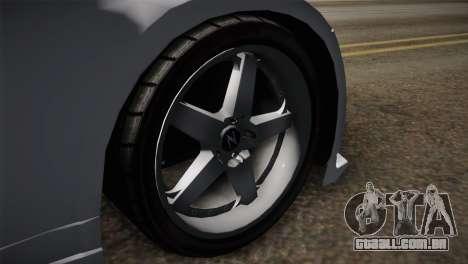 Nissan 350Z Nismo para GTA San Andreas traseira esquerda vista