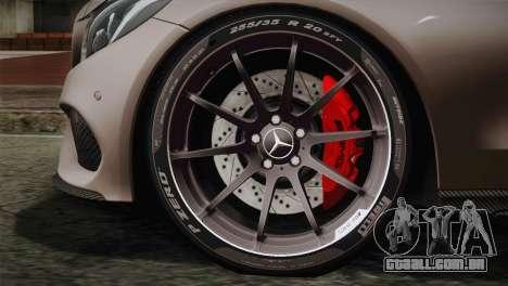 Mercedes-Benz C250 AMG Edition 2014 EU Plate para GTA San Andreas traseira esquerda vista