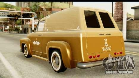 EFLC TLaD Vapid Slamvan para GTA San Andreas esquerda vista