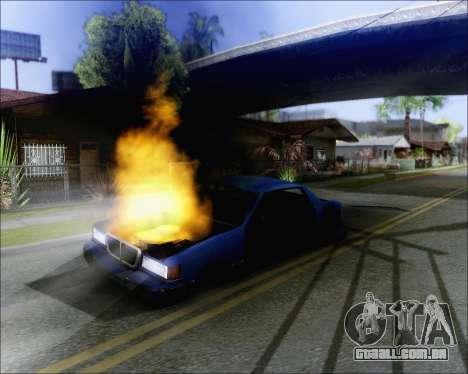 Andando em carros queimados para GTA San Andreas