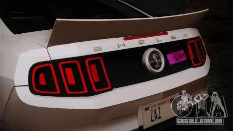 Ford Shelby GT500 RocketBunny SVT Wheels para GTA San Andreas vista direita