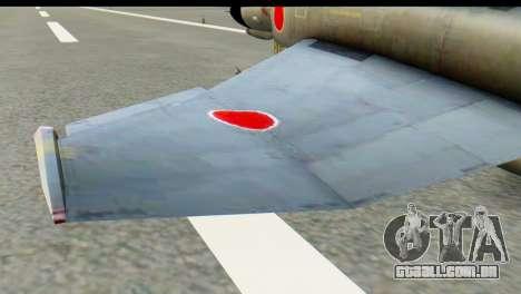F-4EJ Mitsubishi Heavy Industries para GTA San Andreas traseira esquerda vista