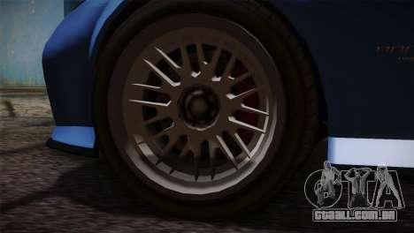 GTA 5 Invetero Coquette v2 para GTA San Andreas traseira esquerda vista