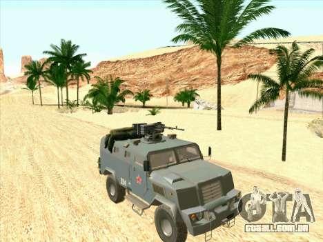 Blindados Urso para GTA San Andreas esquerda vista