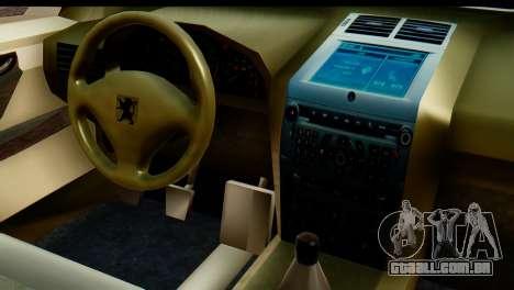 Peugeot 407 Sport Taxi para vista lateral GTA San Andreas