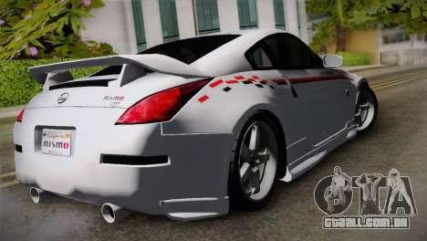 Nissan 350Z Nismo para GTA San Andreas esquerda vista