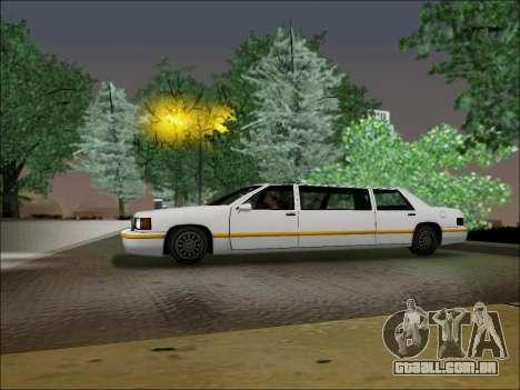 Elegant Limousine para GTA San Andreas esquerda vista