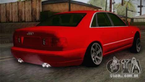 Audi A8 2000 para GTA San Andreas esquerda vista
