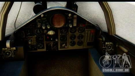 F-4EJ Mitsubishi Heavy Industries para GTA San Andreas vista traseira