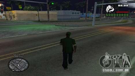 Nomes de rua no radar para GTA San Andreas terceira tela