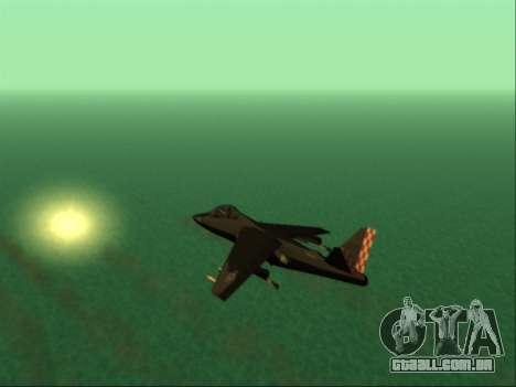 McDonnell Douglas AV-8B Harrier II Beta para GTA San Andreas vista superior