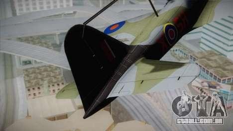 ИЛ-10 da Força Aérea Real para GTA San Andreas traseira esquerda vista
