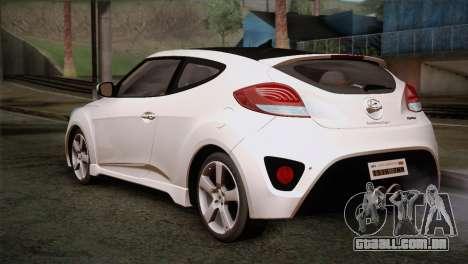 Hyundai Veloster 2012 Autovista para GTA San Andreas esquerda vista