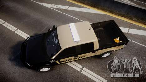Ford F150 2010 Liberty County Sheriff [ELS] para GTA 4 vista direita