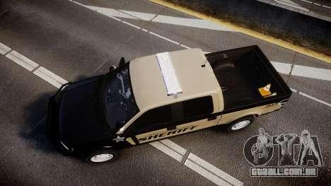 Ford F150 2010 Liberty County Sheriff [ELS] para GTA 4 vista direita