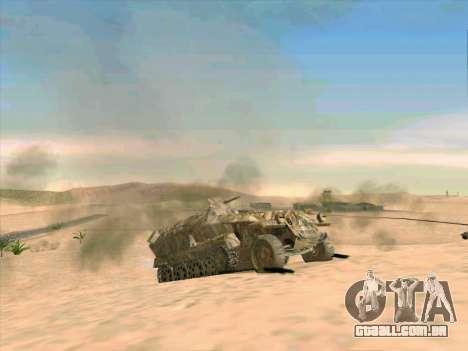 Sd Kfz 251 Da Camuflagem Do Deserto para vista lateral GTA San Andreas