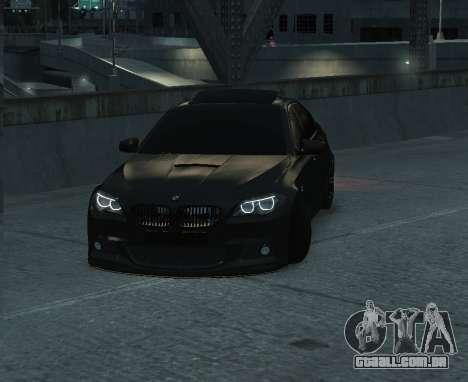 BMW M5 F10 2014 para GTA 4 traseira esquerda vista