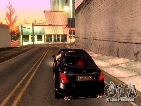 Mercedes-Benz Long S65 W222  Black loaf para GTA San Andreas esquerda vista