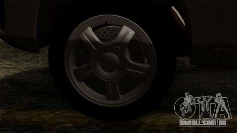 Lada Granta Liftback para GTA San Andreas vista direita