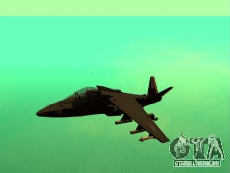 McDonnell Douglas AV-8B Harrier II Beta para GTA San Andreas esquerda vista