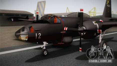 P2V-7 Lockheed Neptune RCAF para GTA San Andreas vista traseira