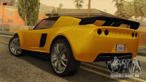 GTA 5 Coil Voltic v2 SA Mobile para GTA San Andreas esquerda vista